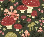 Mushrooms fabric by alyssa_scott on Spoonflower - custom fabric