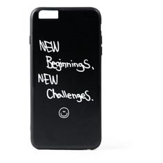 New Beginnings Iphone case ($35) ❤ liked on Polyvore featuring men's fashion, men's accessories, men's tech accessories and black