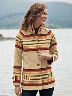 Pendleton Woolen Mills: TOBOGGAN COAT. In the spirit of becoming a true Pacific Northwesterner. pendleton woolen, pendleton coat, toboggan coat, coats