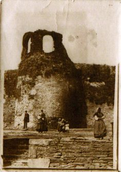 Cubo da muralla na Mosqueira, Lugo; ca. 1900