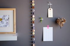 """CLOUDS """"sweet"""" handmade paper garland - styling and photo © Mi-avril"""