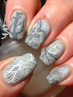 For the Digit-al Dozen Winter Wonderland manis, I tried to think a little outside of the box for...