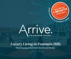 Are you looking for a luxury community in the Town of #FountainHills, AZ? Look no further! 🌵We are currently offering ONE month rent free! Contact us today and be our neighbor! Month Signs, Pet Friendly Apartments, Fountain Hills, Apartment Communities, 2 Bedroom Apartment, Luxury Apartments, Luxury Living, Community, How To Plan