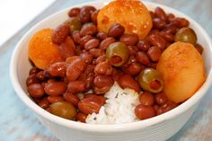 """Puerto Rican Rice and Beans.  I make these beans a few times a month and my family loves them. I add a little bit of """"pique"""" (hot sauce) because we like to eat spicy and it adds another depth of flavor. Yummy!"""