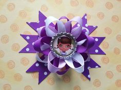 Doc mcstuffins hair bow also available sofia the by bellecaps, $3.75