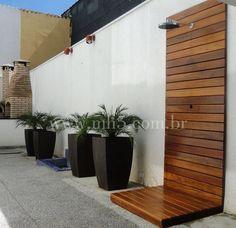 MH5 Carpintaria » Chuveirão de Madeira Para Piscinas