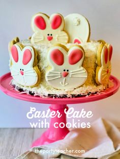 Decorate-an-Easy-Easter-Cake-with-Cookies-The-Party-Teacher Easter Cake Easy, Teacher Party, Buy Cake, Sleepover Party, Childrens Party, Baby Shower Cakes, Party Cakes, Diy Party, Cookies