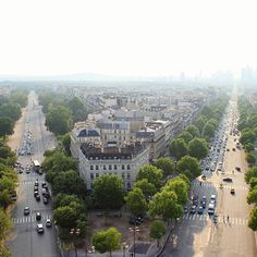 View from the Arc de Triomphe  I love Paris so much ♡  #photography #instagood #art #photooftheday #tagsforfollow #travel #trip #tourist #paris #view #urban #city #street #architecture #archilovers #traffic #sky #noon #sun #summer #tags4follow #art #instaartist