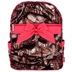 $13.75 BNB Natural Camo™ Quilted Large Backpack with Hot Pink Ribbon
