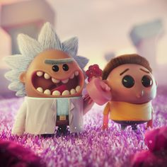 to join Rick and Morty fandom on Zbrush, Fan Art, Bühnen Design, Ricky Y Morty, Design Creation, Rick And Morty Poster, Modelos 3d, Cute Characters, Creations