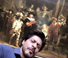 Shah Rukh Khan poses with Rembrandt painting at Rijksmuseum ...