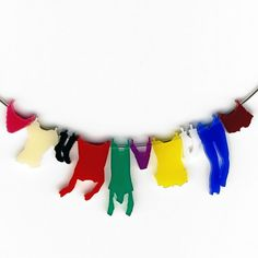 necklace  laundry hanging on clothesline by oronkol on Etsy - How fun is that???