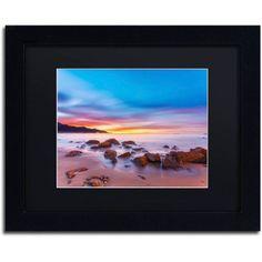 Trademark Fine Art Mussel Shoals Morning Canvas Art by Chris Moyer, Black Matte, Black Frame, Size: 16 x 20