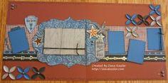 Two Page Scrapbook Layout Country Cowboy Dakota #ctmh #cricutexplore #scraptabulousdesigns