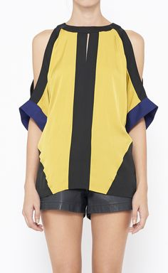 Hugo by Hugo Boss Black And Blue Top $115