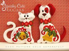 Dog Stuffed Animal Pattern Felt Plushie by SquishyCuteDesigns