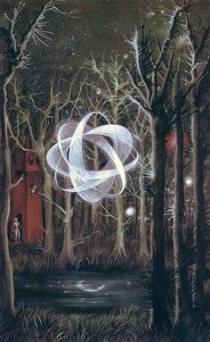"""Reflejo lunar/Moon's Reflection"" 1961 Remedios Varo."