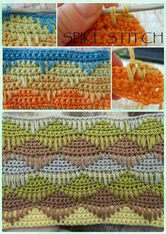 Crochet Easy Spike Stitch Free Pattern