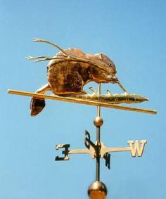 Beaver Weather Vane by West Coast Weather Vanes.  The Beaver Weathervane can be made using a variety of metals, copper and brass with accents in optional gold or palladium leafing.