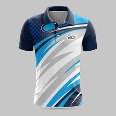 Sport Shirt Design, Sports Jersey Design, New T Shirt Design, Sport T Shirt, Shirt Designs, Volleyball Jerseys, Navy Blue, Blue And White, Badminton