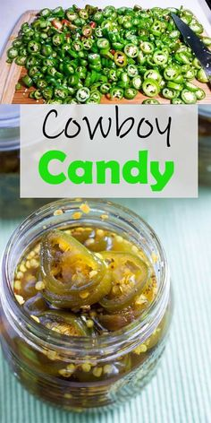 Candied Jalapenos - Cowboy Candy Recipe Cowboy Candy, is so easy to make! I give them to my heat loving friends and family for holiday gifts! Pepper Jelly Recipes, Jalapeno Recipes, Recipes With Jalapenos, Hot Pepper Jelly, Best Pickled Jalapenos Recipe, Onion Jelly Recipe, Jalapeno Canning, Spicy Pickled Eggs, Hot Pepper Relish