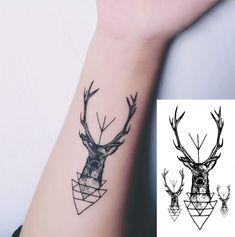 Deer fake tattoo, Tattoo, Temporary Tattoo, Tattoo Sticker, Sticker #faketattoo#Tattoo#TemporaryTattoo#TattooSticker#Sticker #TemporaryTattoo Real Tattoo, Fake Tattoos, Tatuajes Tattoos, Temporary Tattoo, Body Shapes, Body Art, Deer, Stickers, Beach Party