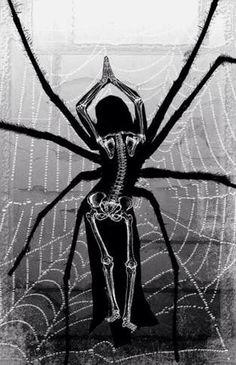 Black widow by ARTIblack on DeviantArt Dark Fantasy, Fantasy Art, Bone Drawing, Black Widow, Black And White, Spider Art, Spider Webs, Black Spider, Insect Art