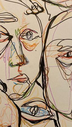 Art Sketches, Art Drawings, Colorful Drawings, Images Murales, Arte Sketchbook, Poster Prints, Art Prints, Psychedelic Art, Aesthetic Art