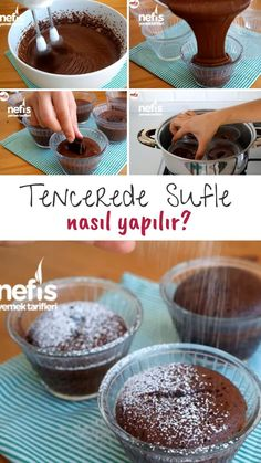 Tencerede Sufle Yapımı (Videolu Anlatım) - Nefis Yemek Tarifleri Video Explanation How to Make Soufflé in the Pot (Video Expression) How to Make Recipe? Video narration of this recipe in person's book and photographs of those who try it are here. Homemade Beauty Products, Food Videos, Mousse, Food To Make, Deserts, Food And Drink, Chocolate, Dessert Recipes, Cooking Recipes