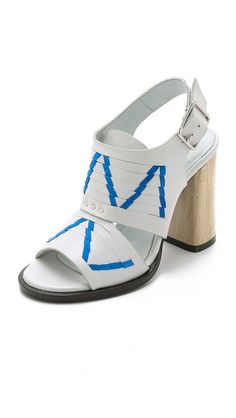 Thakoon Addition Lizzy Chunky Heel Sandals