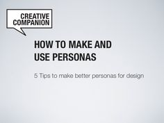 How to make_better_personas