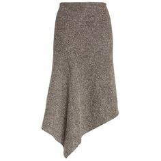 Women's Atlein Galaxy Tweed Asymmetrical Skirt (€370) ❤ liked on Polyvore featuring skirts, grey, asymmetrical draped skirt, mid-calf skirt, grey skirt, calf length skirts and gray midi skirt