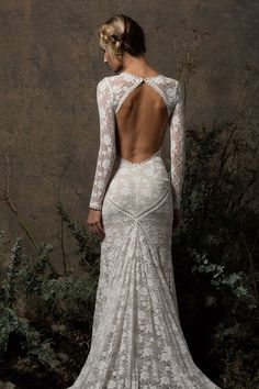 Get ready to WOW your guests in this backless wedding gown. See why this lace wedding dress with lace sleeves is a favorite amongst our brides. Mermaid Dresses, Bridal Dresses, David Bridal Wedding Dresses, Ceremony Dresses, Long Wedding Dresses, Tulle Wedding, Wedding Bouquets, Bridesmaid Dresses, Lace Bridal