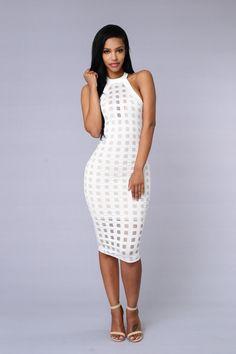 Brickhouse Dress - White hot
