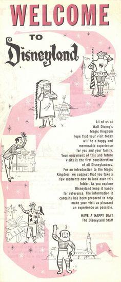 Disneyland brochure, I love the little mid-century illustrations that represent each land. Modern-day Adventure Land totally needs more shoulder toucans. Retro Disney, Old Disney, Disney Love, Punk Disney, Disney Vacations, Disney Trips, Disney Parks, Disney Travel, Disney Posters