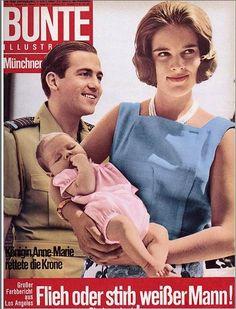 1965: König Konstantin von Griechenland mit Familie