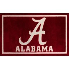 """Step up your fan game with Campus Sports Rug. These area rugs are perfect to complete your themed decor. Officially licensed college logos, now you can spread your team spirit everywhere you go. High quality machine-made nylon with carve detail construction that is super soft to the touch. Family, pet, and tailgate friendly. Vacuum regularly and spot clean. Size: 20""""X30"""". Color: Alabama. Pattern: Color Block. Sports Rug, University Of Alabama, Indoor Rugs, Alabama Crimson Tide, Accent Rugs, Memorable Gifts, Online Home Decor Stores, Mild Soap, Cotton Canvas"""