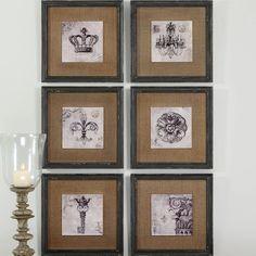Symbols 6 Piece Framed Painting Print Set | Wayfair