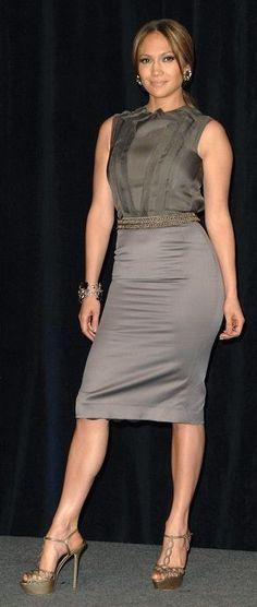 Jennifer Lopez wearing Sergio Rossi Crystal Studded Platform Sandals