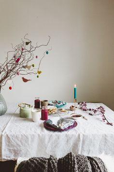 Friesische Insel-Krug Waffeln mit Pflaumenmus zu Ostern – Life is Kunst bohemian esszimmer