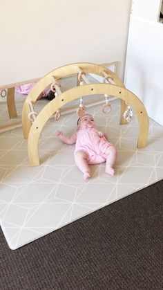 Wooden Baby Gym Scandi style wooden baby gym by Nester and Cub. Modern, stylish and original. Made in Australia from Sustainably sourced Australian Pine. - Baby Development Tips Baby Nursery Diy, Baby Room, Nursery Gray, Diy Baby Gym, Wood Baby Gym, Childrens Gym, Wooden Playset, Natural Nursery, Wooden Baby Toys