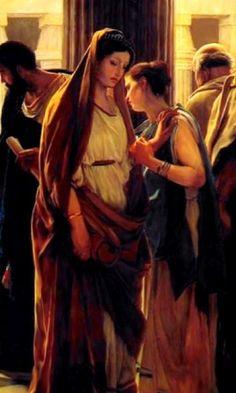 Ecce Homo (Behold the Man) detail - Antonio Ciseri.  Pilate's wife's reaction to the judgement of Christ.