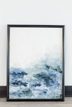 Moody watercolor of the ocean blues. Ocean Painting, Travel Art, Wall Art, Painting, Art, Blue Ocean, Abstract, Watercolor Sea, Abstract Watercolor