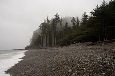 Naikoon Provincial Park, Agate Beach, Tow Hill on a stormy spring day