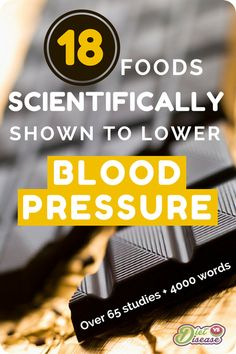 Is your blood pressure too high? For those in countries like the US, UK and Australia, 1 in 3 people over the age of 30 get diagnosed with high #bloodpressure . Rather than always cutting foods out, research shows you may really benefit from eating more of certain foods with healing properties. This 4,000 word article looks at over 65 studies and summarises the science behind 18 of the most prominent foods. See them all here: http://www.dietvsdisease.org/18-foods-to-lower-blood-pressure/