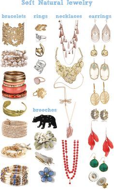 """""""Soft Natural jewelry ideas"""" by phloxtrot ❤ liked on Polyvore"""