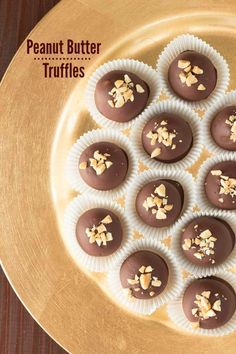 Chocolate Peanut Butter Truffles on OhSweetBasil.com