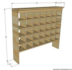 The best DIY projects & DIY ideas and tutorials: sewing, paper craft, DIY. DIY Furniture Plans & Tutorials : Inspired by a vintage mail sorter, this DIY shoe cubby is the perfect piece of furniture to help you wrangle shoes. Shoe Cubby, Diy Shoe Storage, Diy Shoe Rack, Garage Storage, Homemade Shoe Rack, Shoe Organizer Entryway, Fridge Storage, Shoes Organizer, Shoe Racks