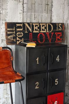 All You Need Is Love Wooden Sign