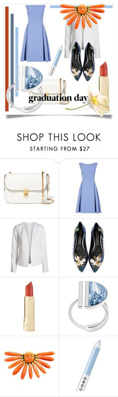 """""""Congrats, Grad: Graduation Day Style"""" by kari-c ❤ liked on Polyvore featuring Valentino, Marc Jacobs, Swarovski and Graduation"""